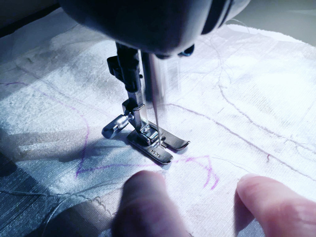Embroidering the digital sea tracking lines